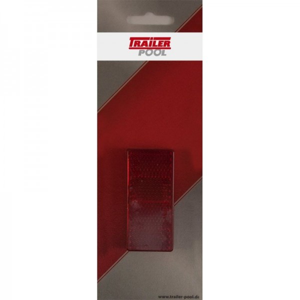 2 x Rückstrahler 69 x 31,5 mm, rot, zum Kleben
