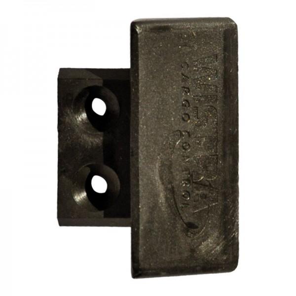 Endkappe/Stäbchenzurrschiene, Kunststoff, schwarz