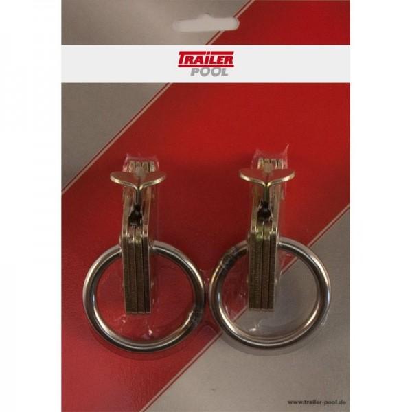 2 x Beschlag mit Ring, für Kombi-Zurrschiene