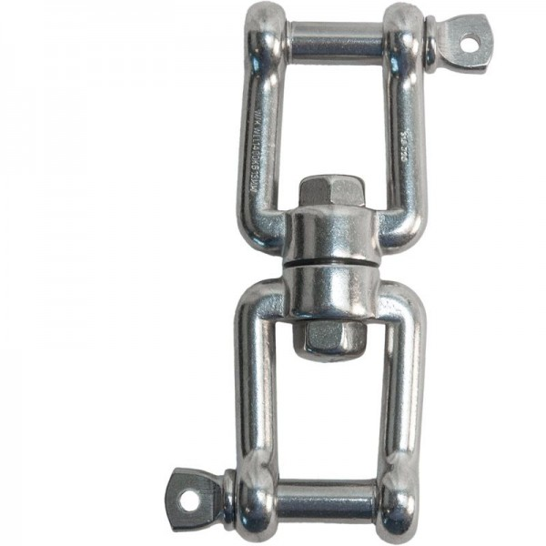 Wirbel V4A, Bolzen-Ø 6 mm, Tragfähigkeit 250 kg