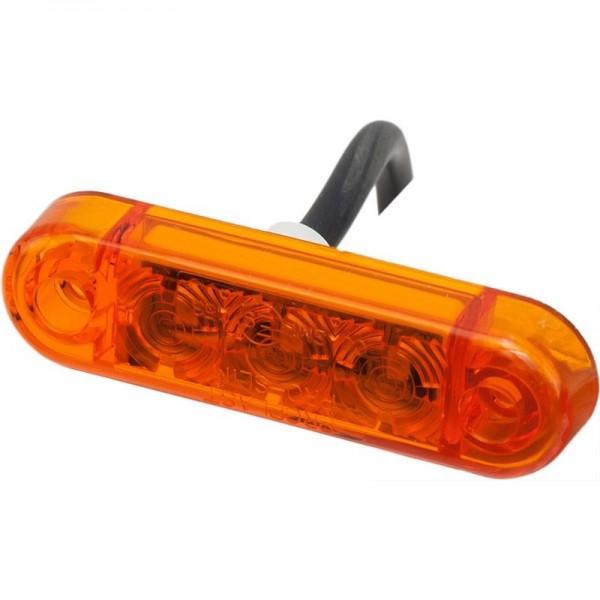 Seitenmarkierungsleuchte Slim LED gelb, 12 Volt
