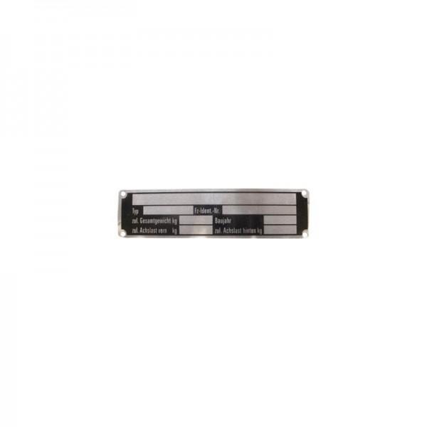 Typenschild, 150 x 35 mm, zum Schrauben