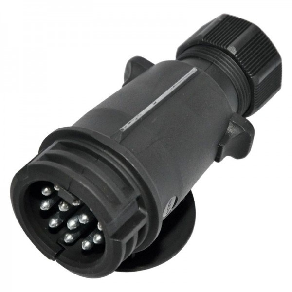 Stecker 13-polig, 12V, Kunststoff, steckbar