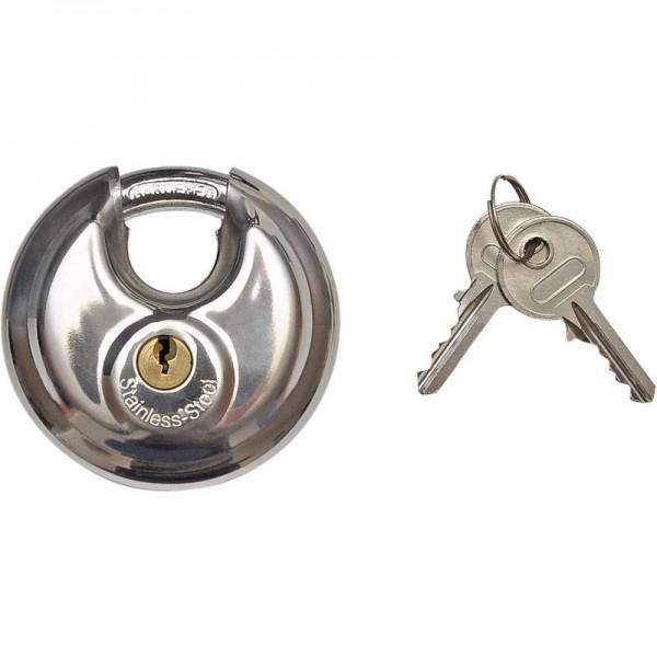 Vorhängeschloss 70 mm, Edelstahl, mit 2 Schlüsseln