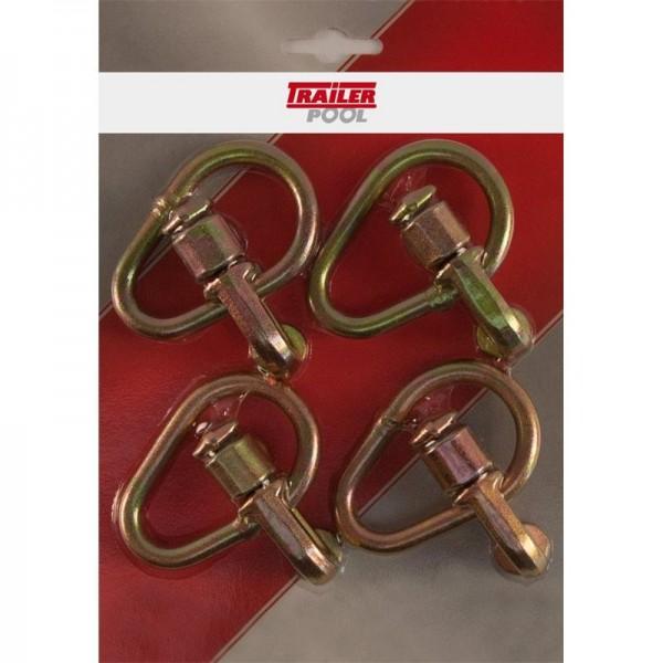 4 x Doppel-Beschlag mit Ring, für Airlineschiene