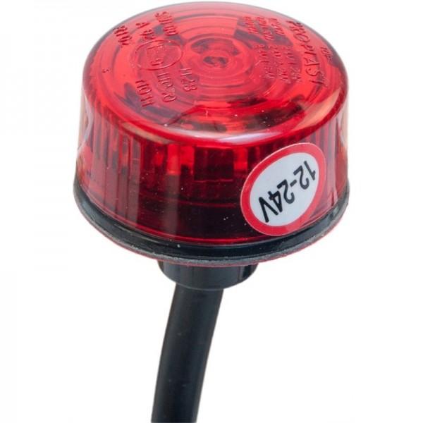 Begrenzungsleuchte Penny, LED rot mit 500 mm Kabel