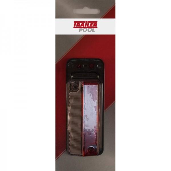 Begrenzungsleuchte rot/weiß mit Gummipendel verp.