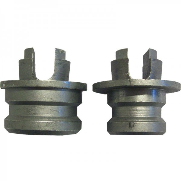 Kombi-Endstücke für Stahl-Rundsperrbalken