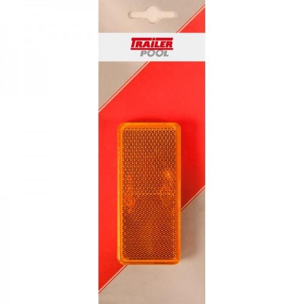 2 x Seitenrückstrahler 90 x 40 mm, gelb zum Kleben