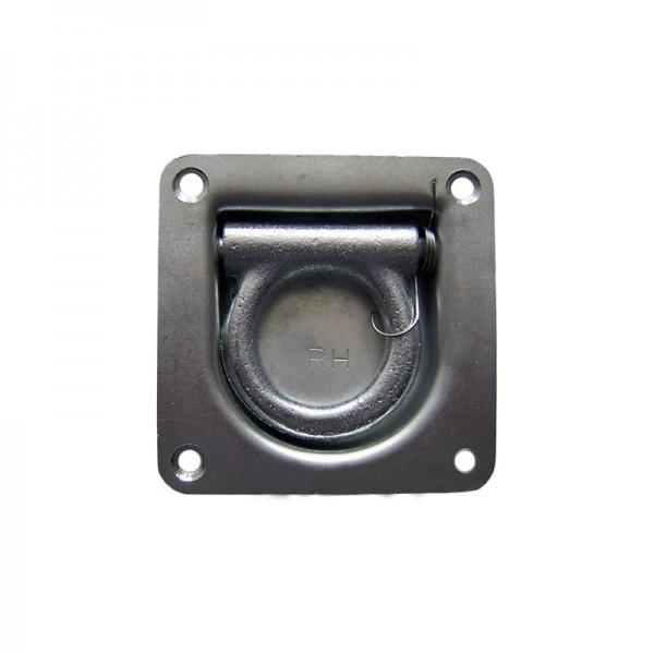 Zurrmulde/Druckfeder, 105x105mm, 800daN, Edelstahl