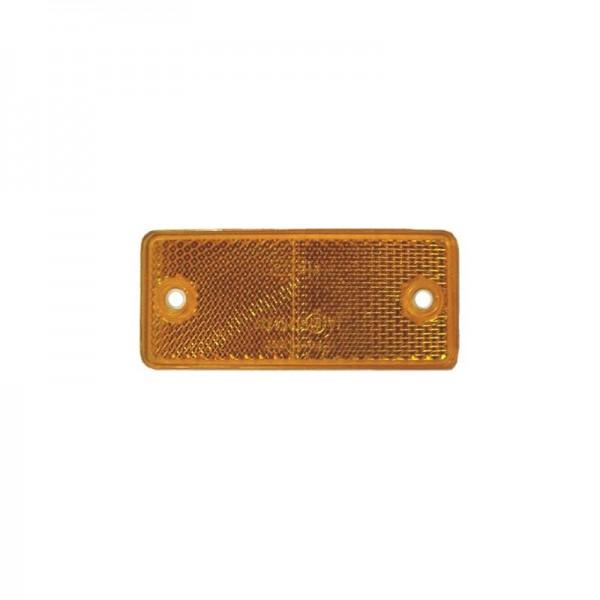 Seitenrückstrahler 90 x 40 mm, gelb, zum Schrauben
