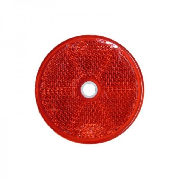 Rückstrahler Ø 60 mm, rot, zum Schrauben