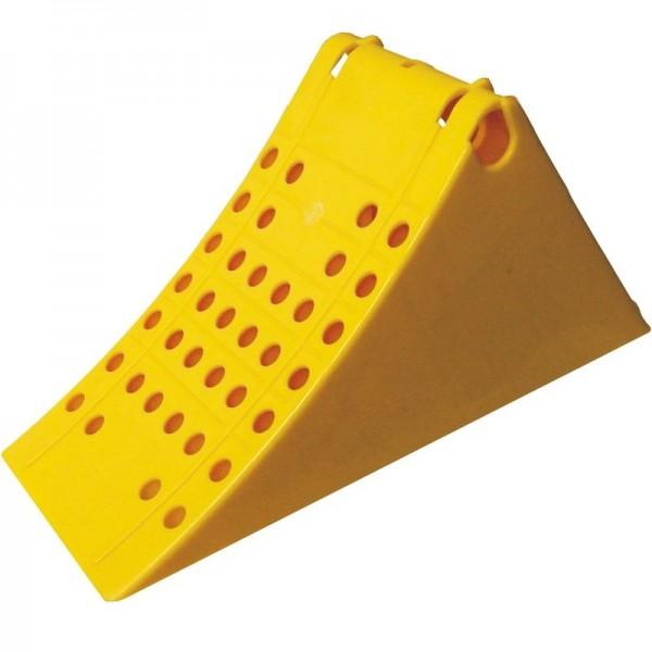 Unterlegkeil, L 385 mm, Kunststoff, gelb