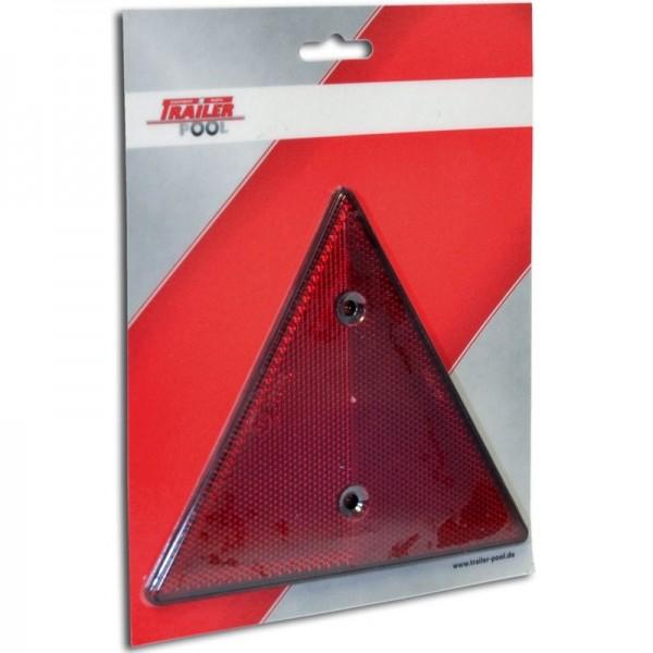 2 x Dreieckrückstrahler, rot, zum Schrauben
