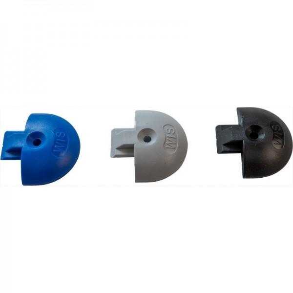 Endkappe/Airlineschiene, rund, Kunststoff, blau