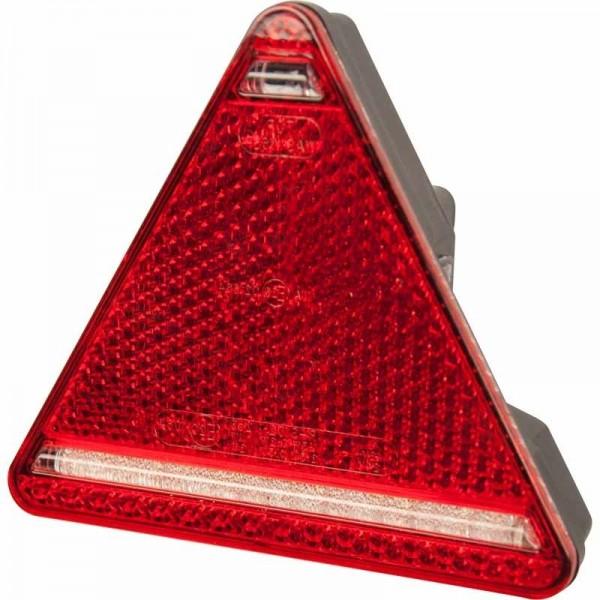 Dreieckrückleuchte LED, links, 12-24 V, mit KZL