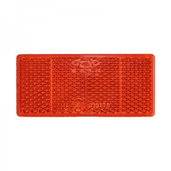 Rückstrahler 69 x 31,5 mm, rot, zum Kleben