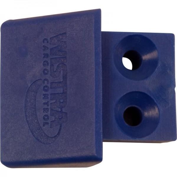 Endkappe/Stäbchenzurrschiene, Kunststoff, blau