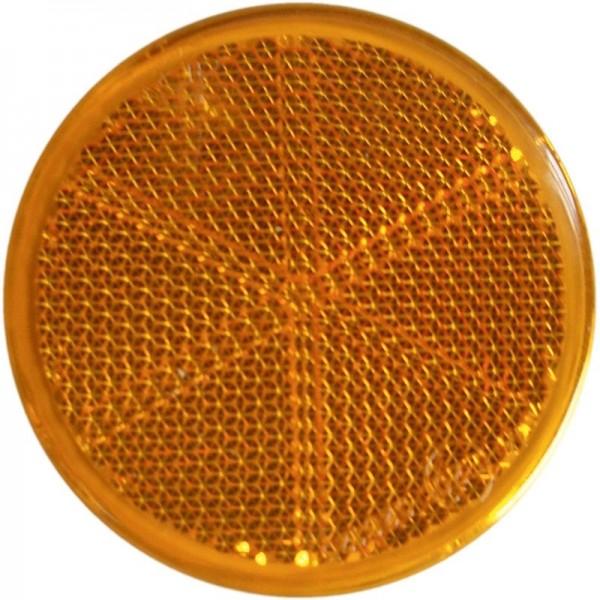 Seitenrückstrahler Ø 60 mm, gelb, zum Kleben