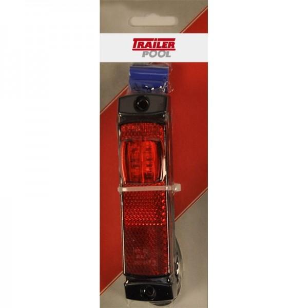Bregrenzungsleuchte LED, rot, 12/24 Volt, verpackt