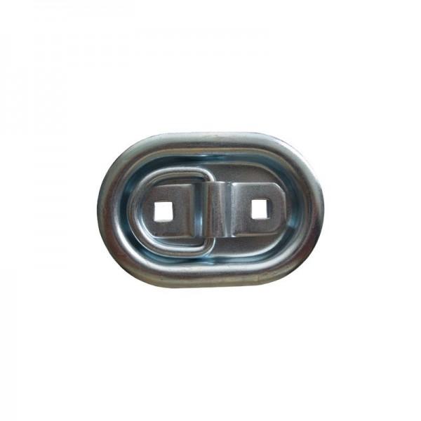 Zurrmulde 3-teilig, 104x70 mm, 400 daN, Edelstahl