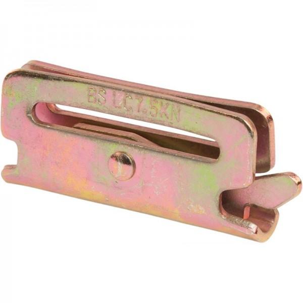 Endbeschlag/Kombi-Zurrschiene, für Gurtband 45 mm