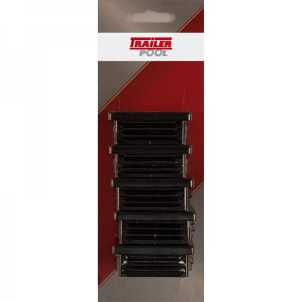 5 x Kunststoff-Stopfen 50 x 50 mm, WS 1,5-2 mm